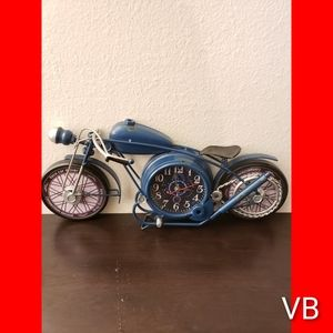 Motorcycle Table Clock by Williston Forge